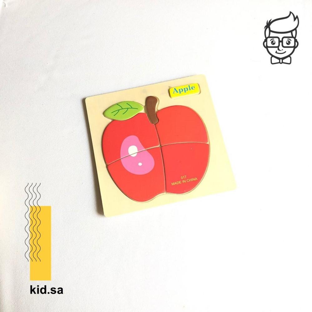 بزل توصيل تفاحة حمراء