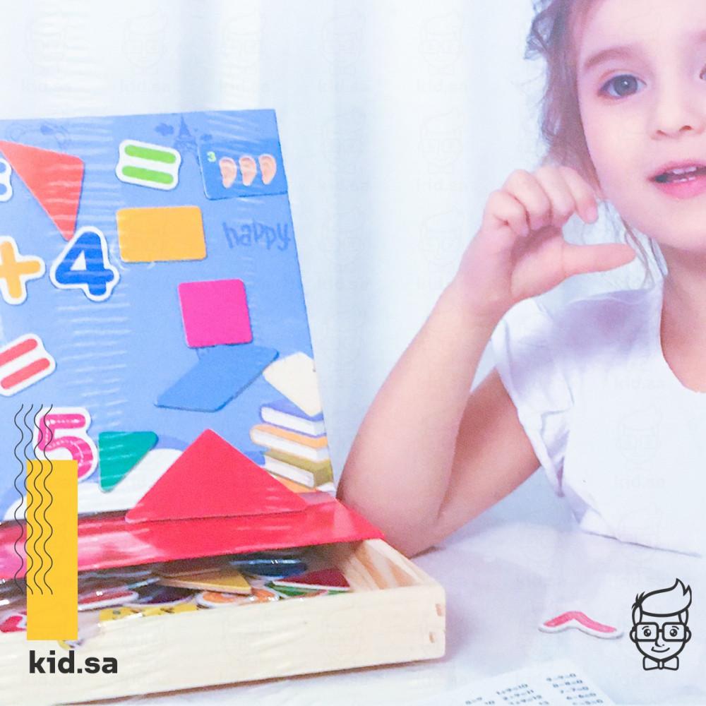 لوح ارقام و اشكال مغناطيس للاطفال