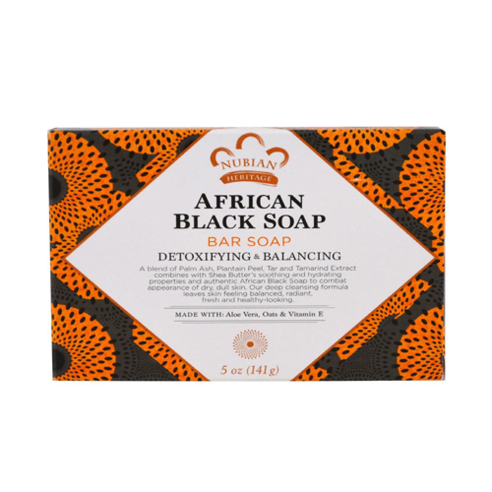 صابون أسود أفريقي من نوبيان هيرتيج - 142غ