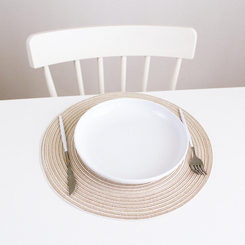 مفرش طاولة طعام مفرش أطباق دائري لون أزرق طريقة ترتيب سفرة الضيوف متجر