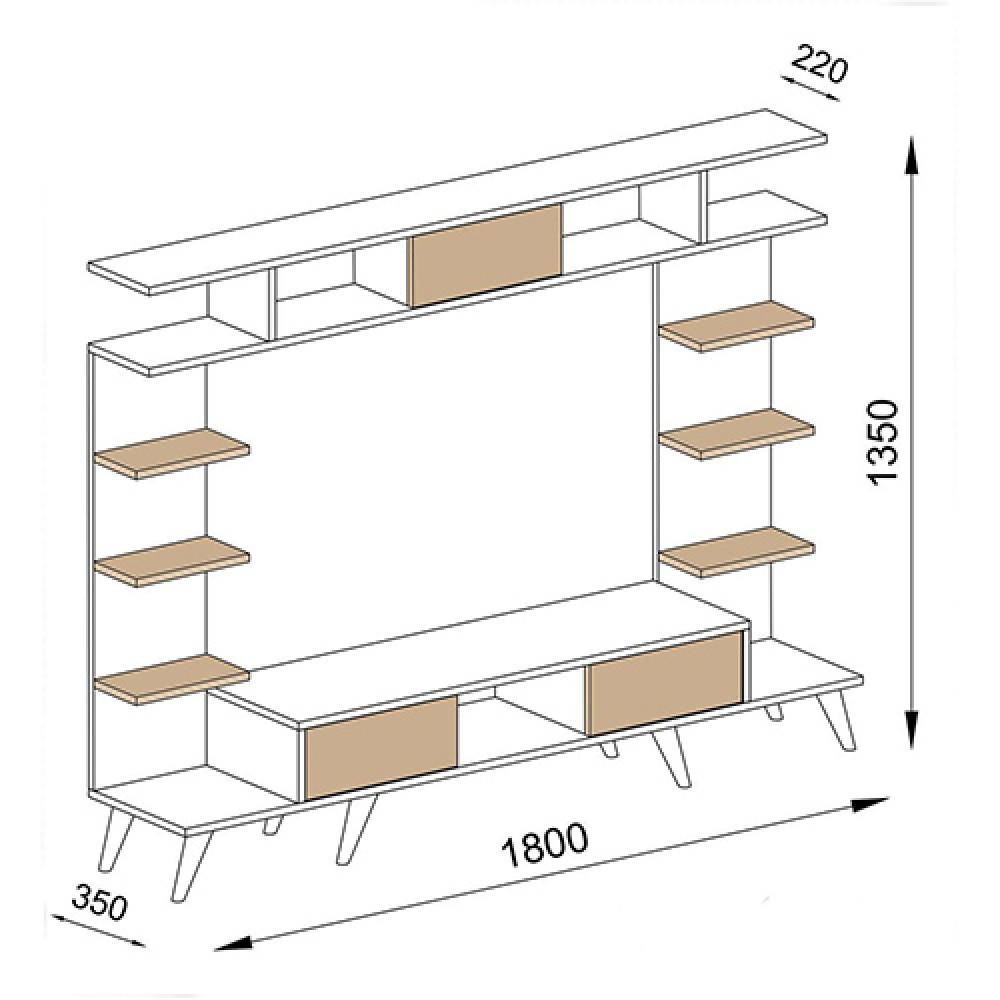 صور طاولات التلفاز طاولة تلفزيون خشب بني موديل روتيرو حصرية  مواسم