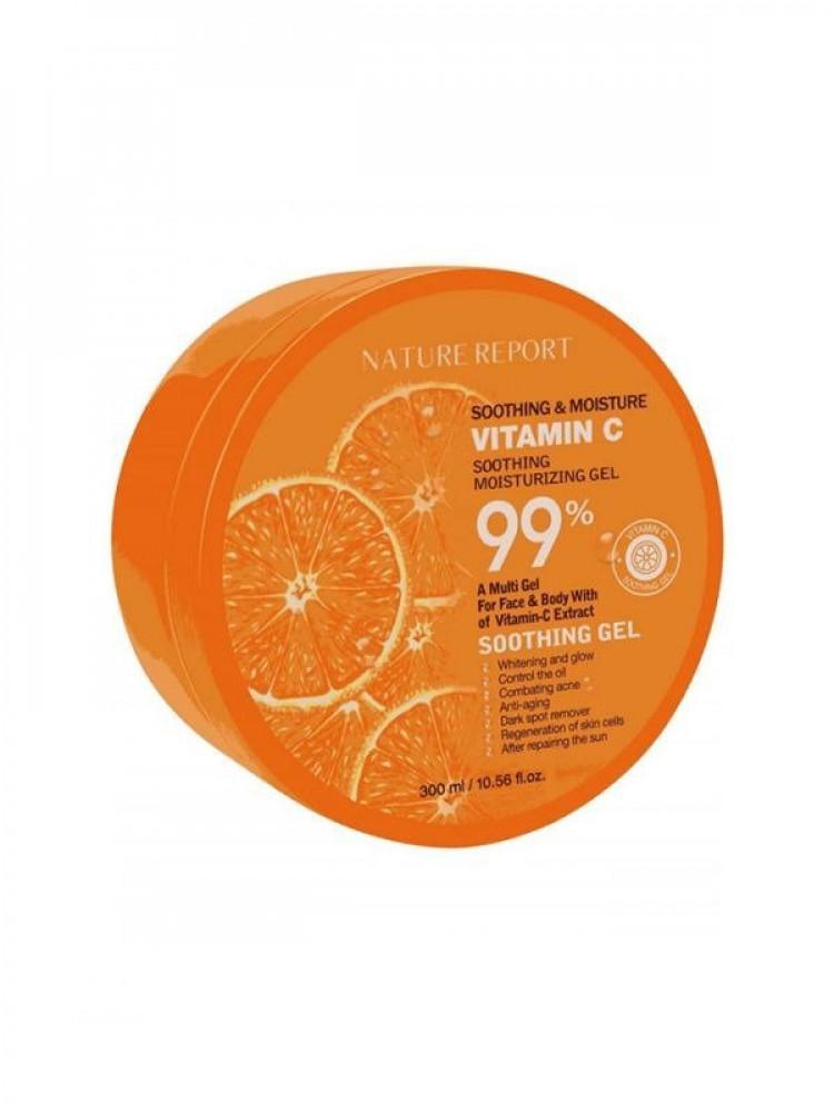 جل فيتامين سي لترطيب وتهدئة البشرة من ناتشر ريبورت 300مل