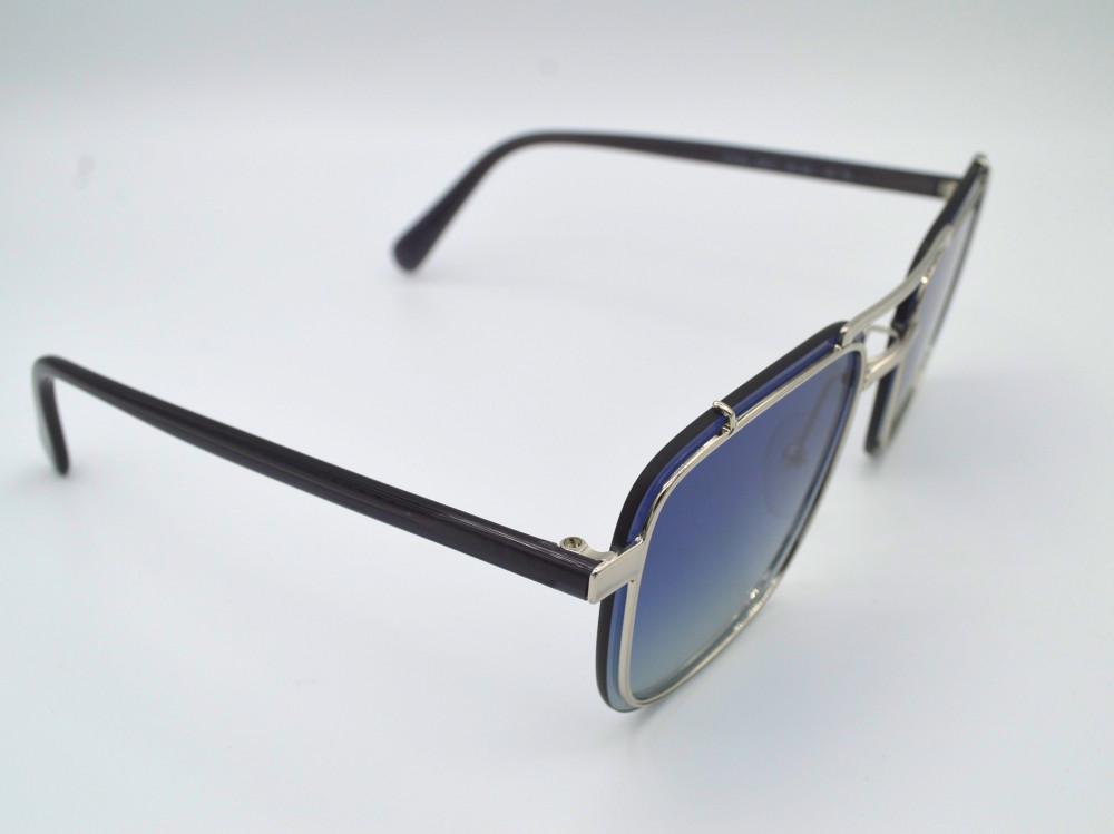 برادا PRADA نظارة شمسية رجالية لون العدسة ازرق مدرج