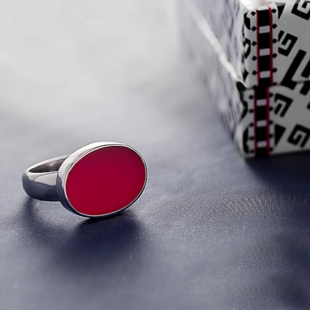 خاتم ملكي راقي من الفضة الخالصة بحجر أونكس مميز