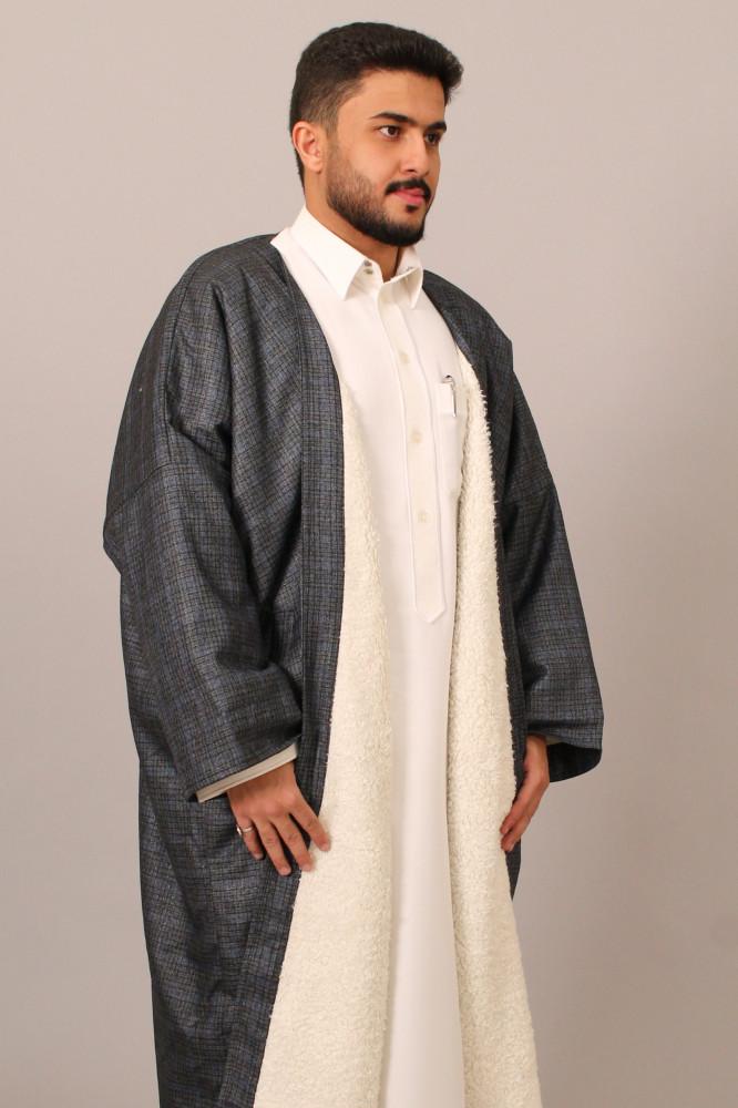 فروة قماش موراكا لون ازرق