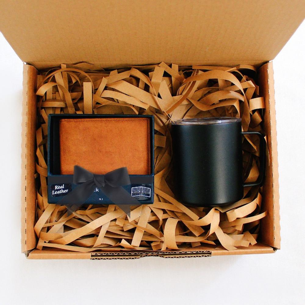 محل هدايا أفكار هدايا رجالية تخرج محفظة جلد طبيعي لون بني متجر هدايا