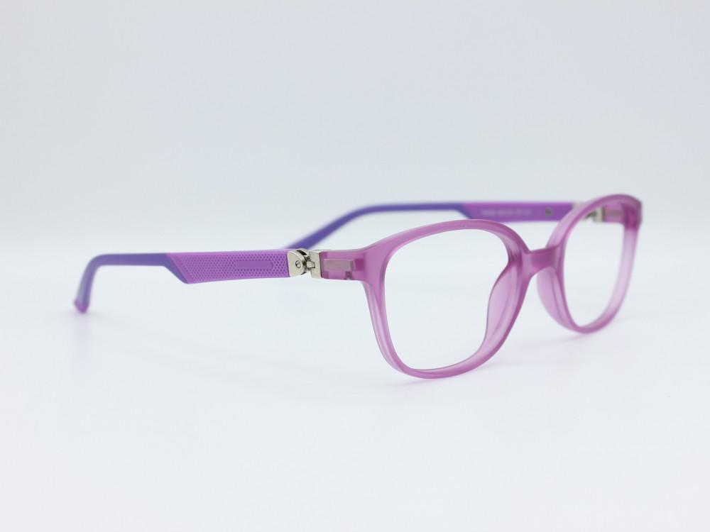 نظارة طبية للأطفال  من ماركة T دائرية مع عدسات بحماية لون الاطار موف 3