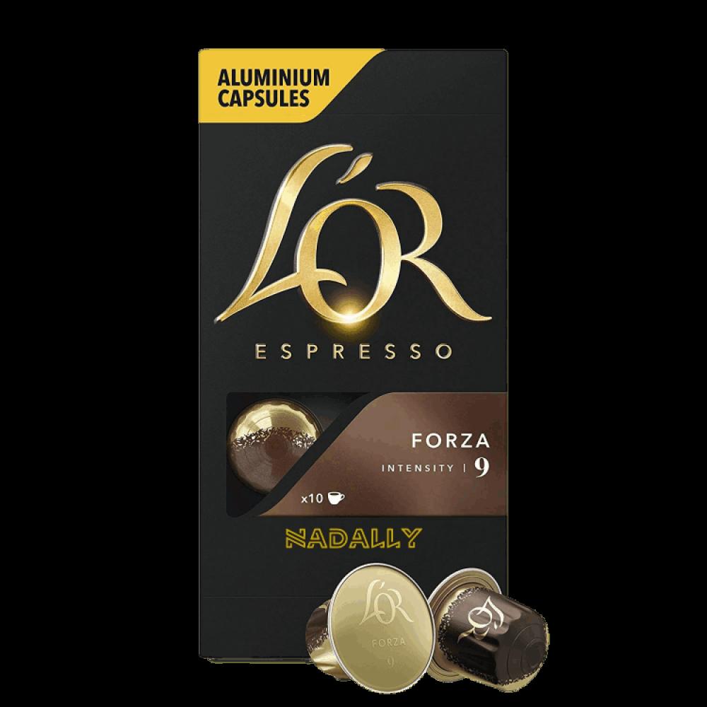 LOR قهوة لور فورزا كبسولات نسبريسو الأصلية Nespresso