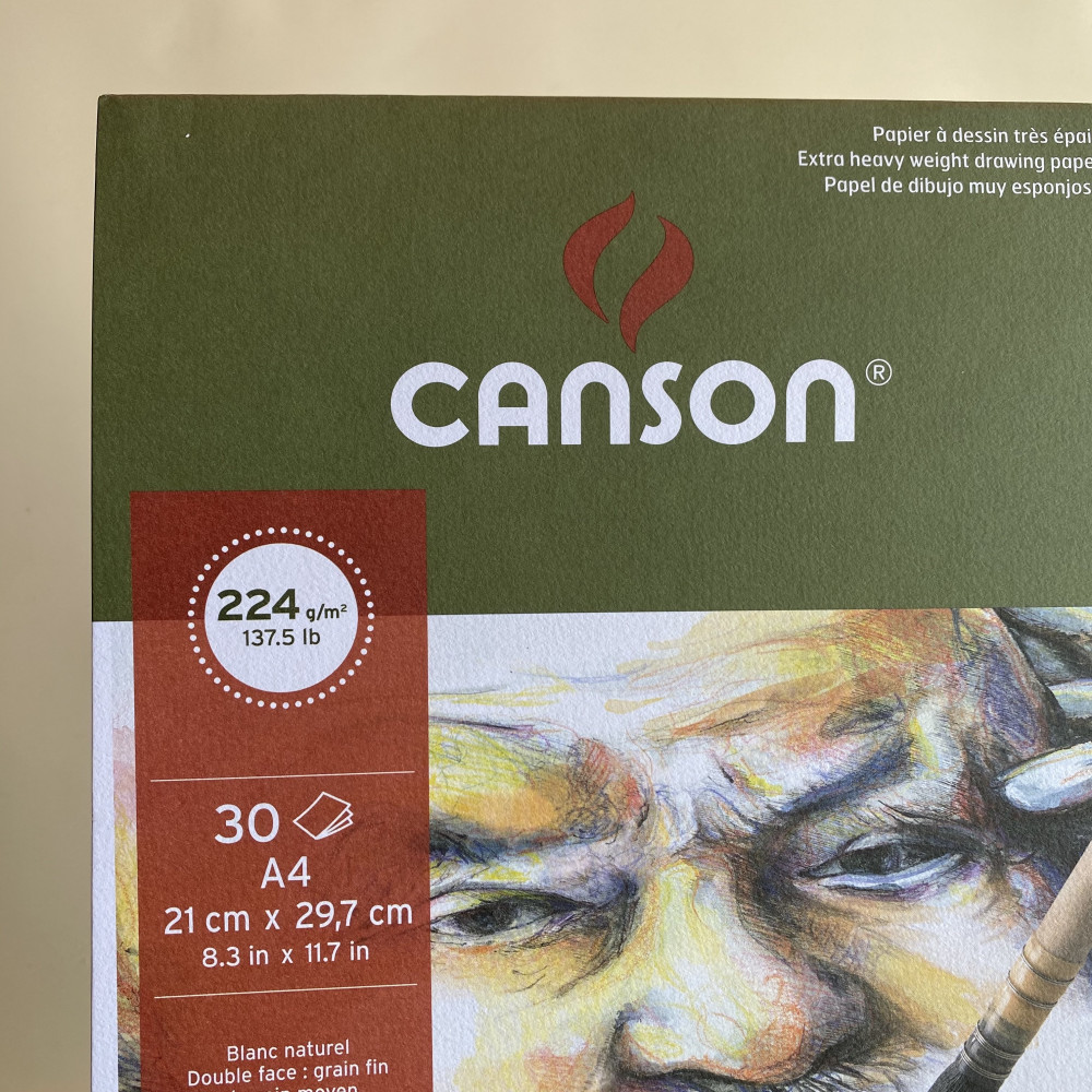 Canson C a grain Pad - 224 gsm - A4