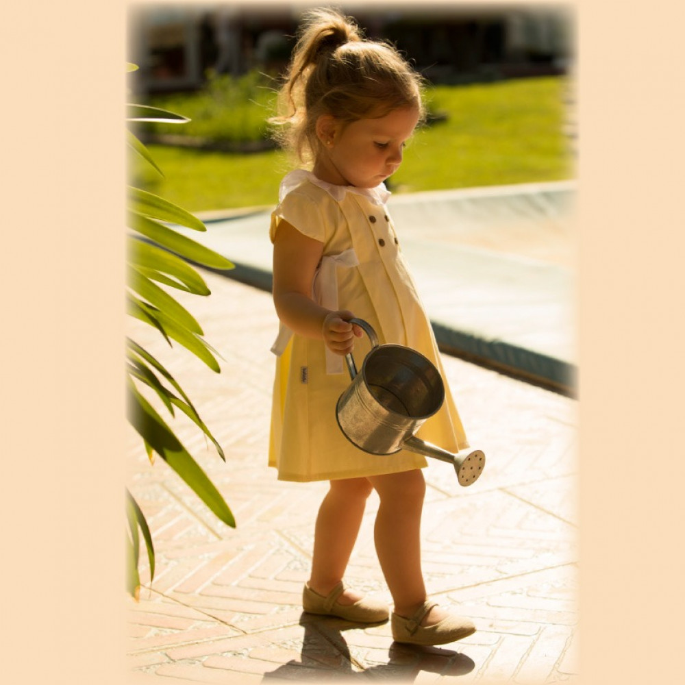 فستان باللون الاصفر من ماركة babidu من دوها