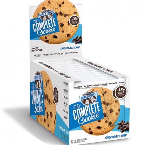 ليني اند لاري كومبليت كوكيز شوكليت شيب كرتون Lenny Larry Complete Cookies Chocolate Chip 16g Protein Box Ideal Nutrition