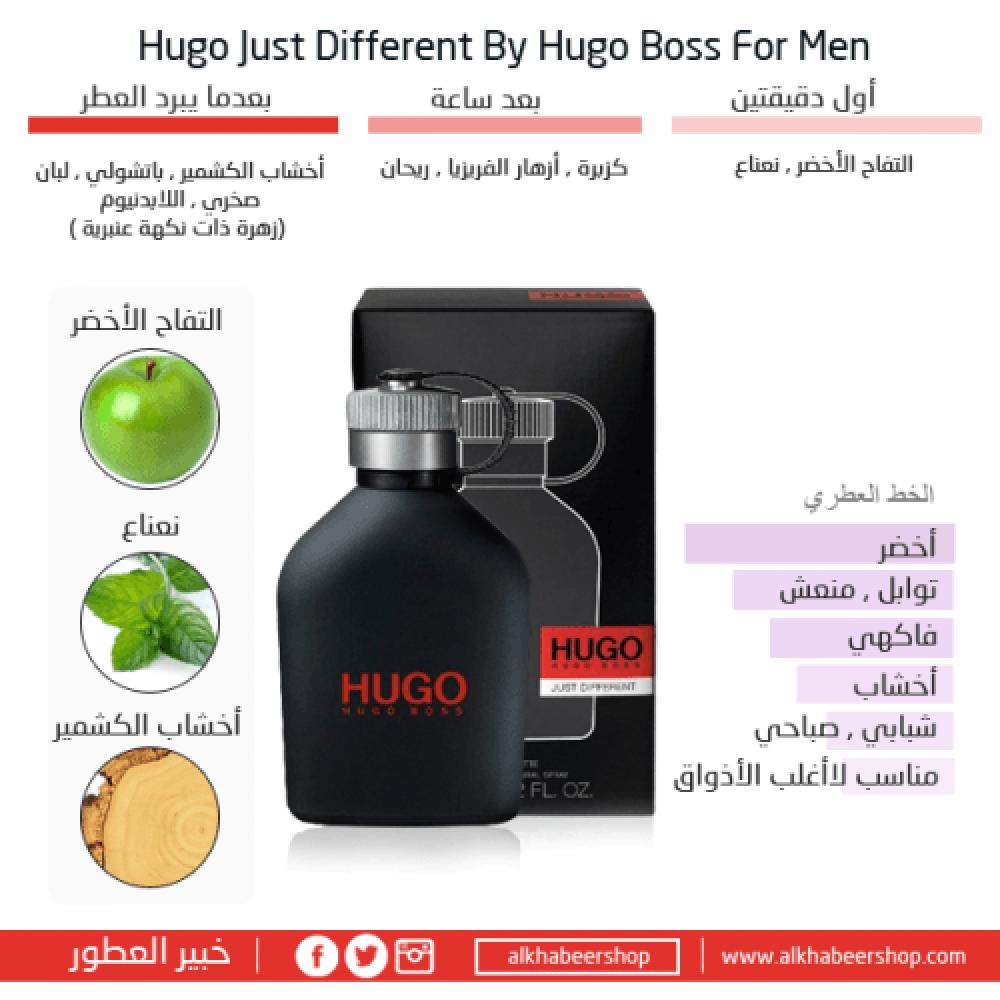 Hugo Boss Just Different Eau de Toilette 125ml متجر خبير العطور