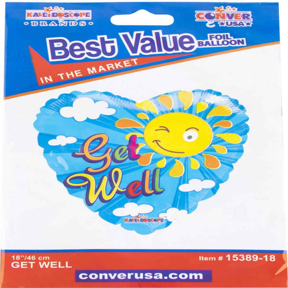 بالون الشفاء العاجل, بلونات أشكال, Get Well Balloon