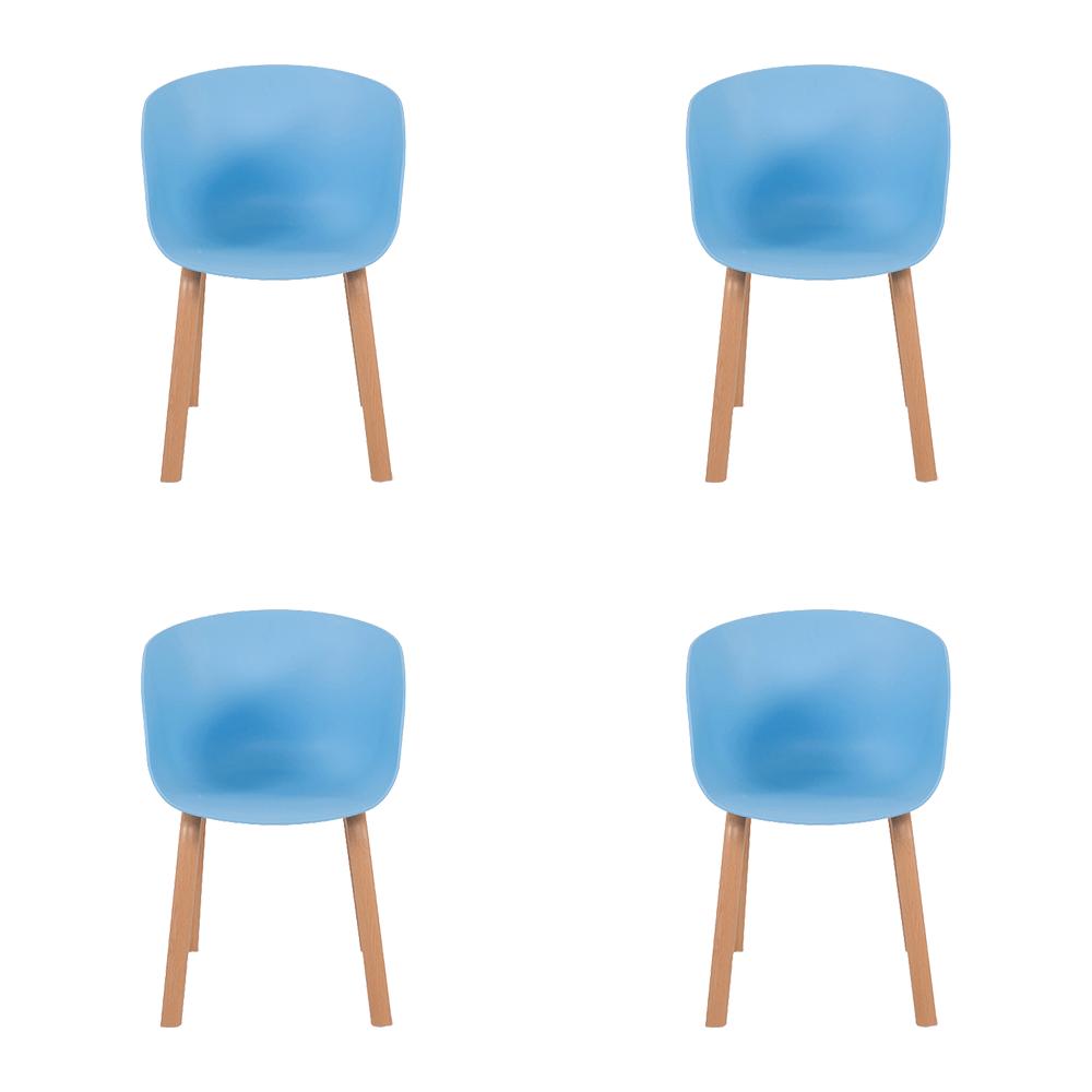 طقم كراسي لون أزرق 4 قطع من متجر مواسم للأثاث المنزلي والديكورات