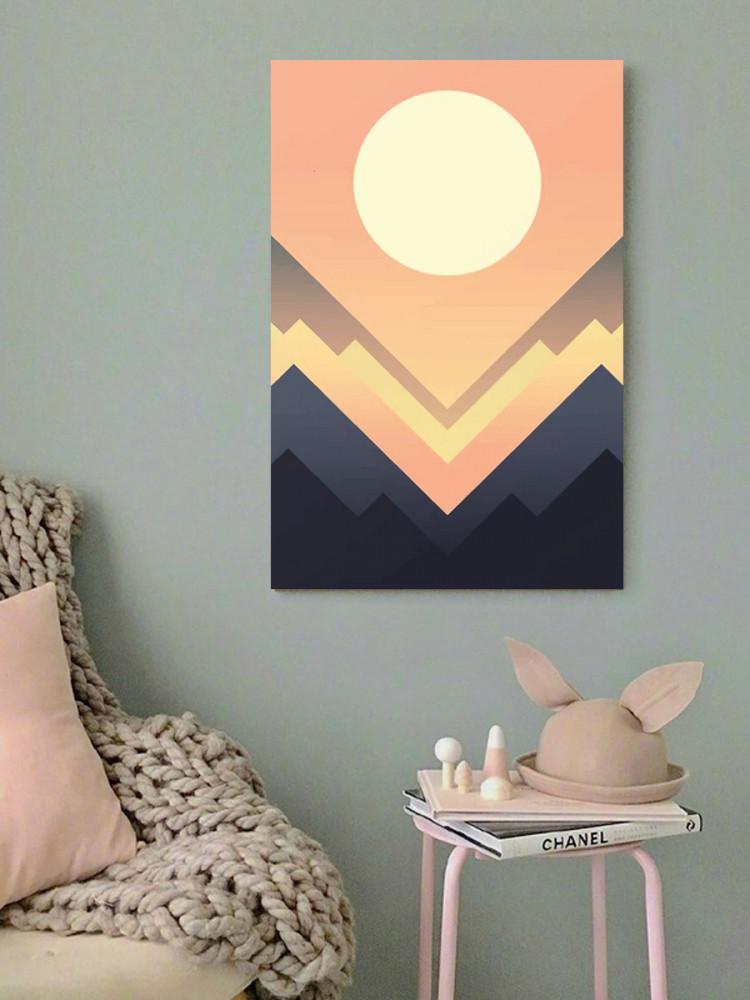 لوحة الشمس فن تجريدي خشب ام دي اف مقاس 40x60 سنتيمتر