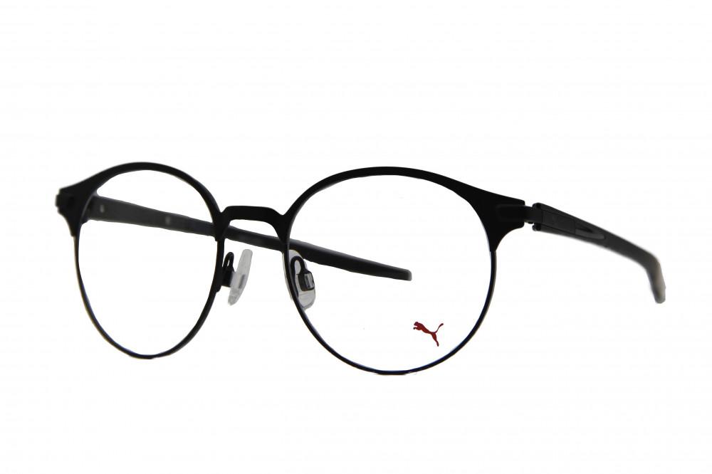 نظارة طبية من ماركة PUMA بتصميم دائري لون الاطار  اسود
