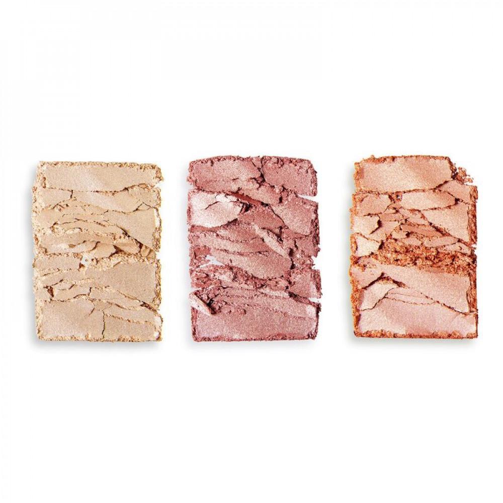 باليت اضاءه وبلاشر ريفلوشن Precious Stone Highlighter Palette Rose Qua