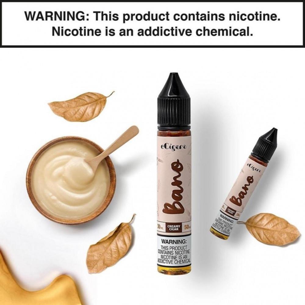 نكهة كريمي سيجار بانو سولت نيكوتين - ECIGARA Bano - Salt Nicotine