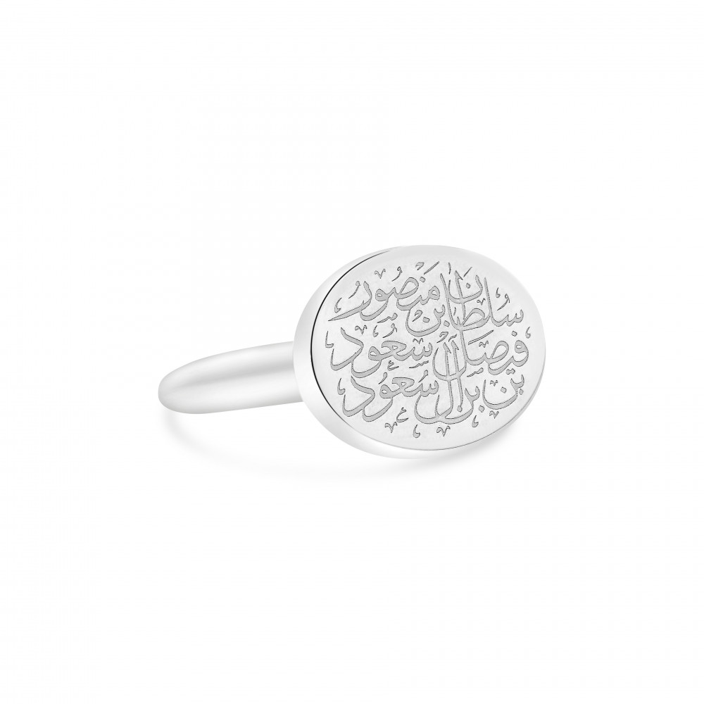 خاتم رجالي من الفضة السويسرية