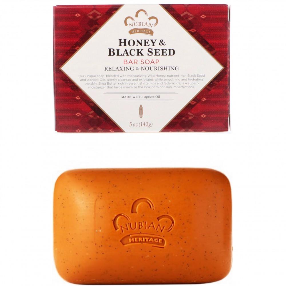صابون بالعسل وحبة البركة من نيوبيان Nubian Honey black seed