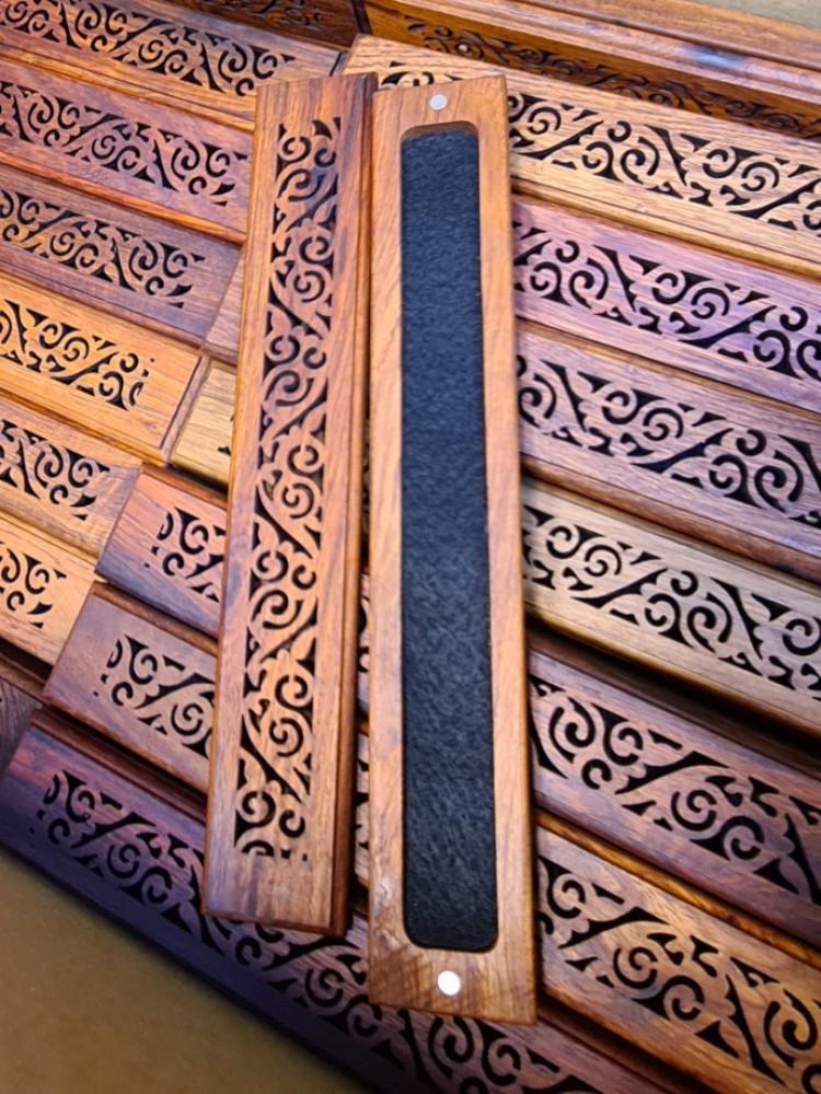 مبخرة بادوك خشب طبيعي - مبخرة قياس 24 سم - مصنوعة من خشب بادوك