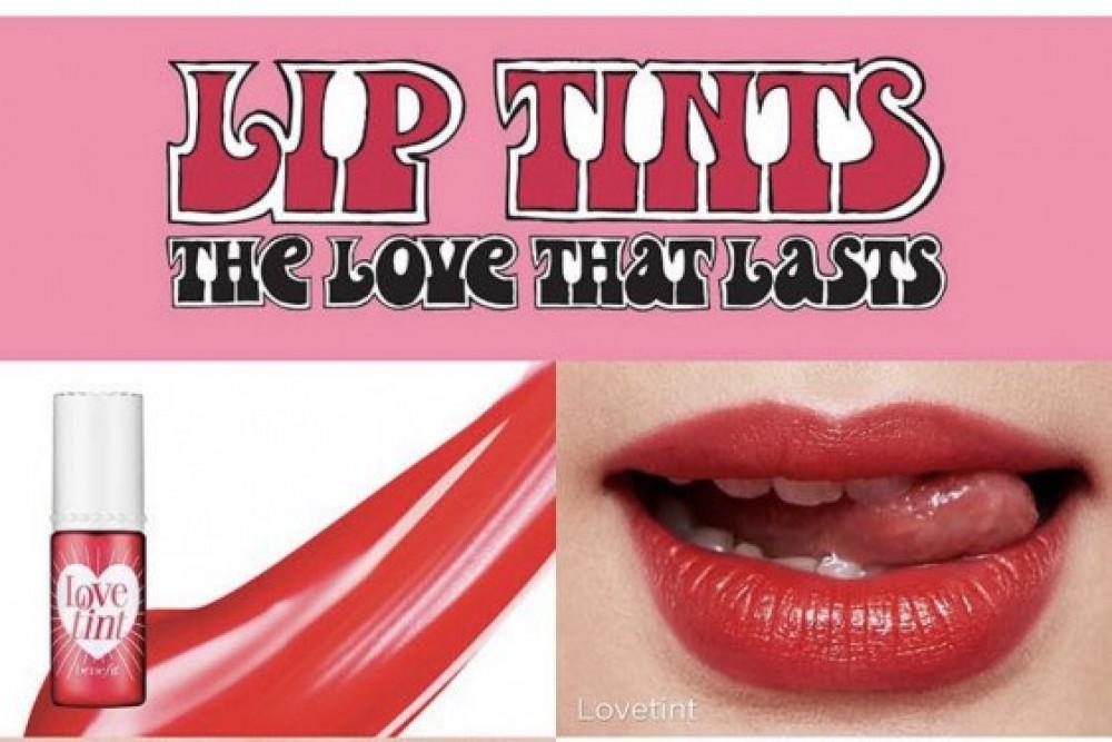 تنت بينفت benefit cosmetics lovetint  fiery red tinted lip cheek sta