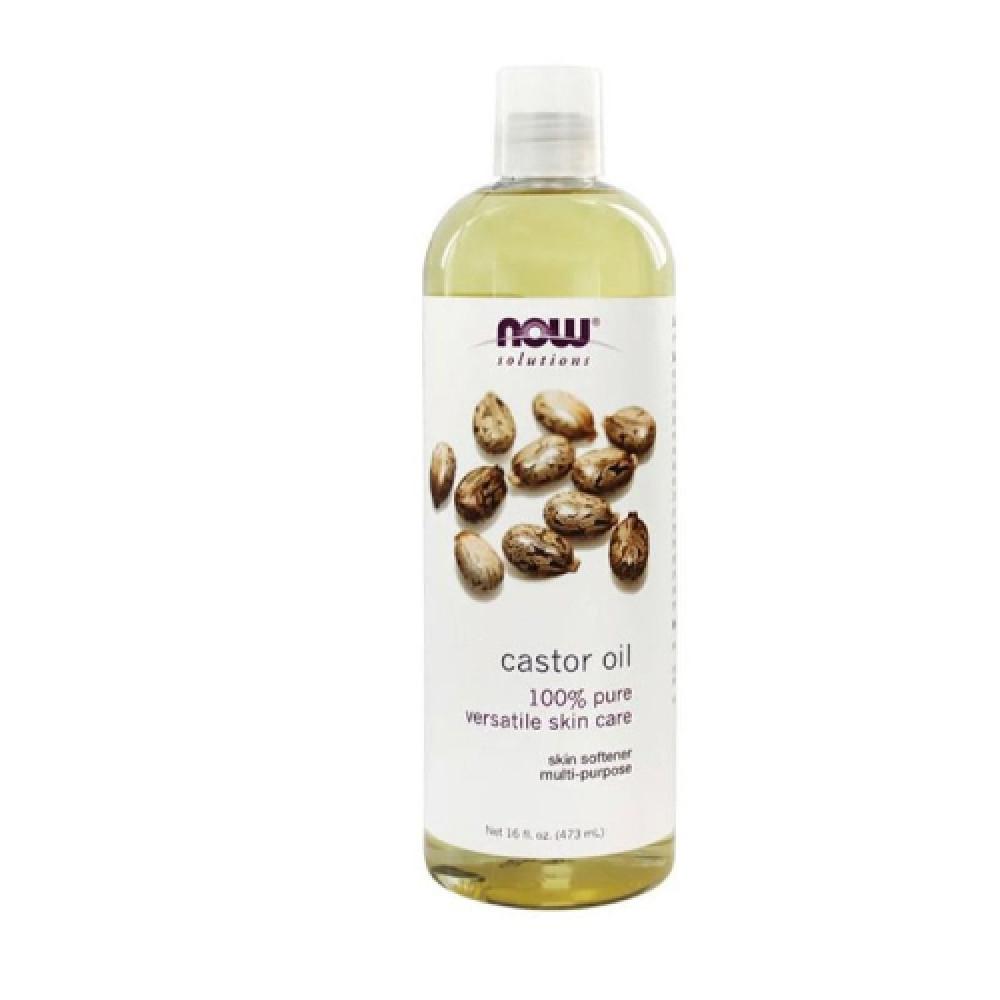 ناو فودز زيت الخروع النقي للجسم 473 مل  NOW SOLUTIONS castor oil