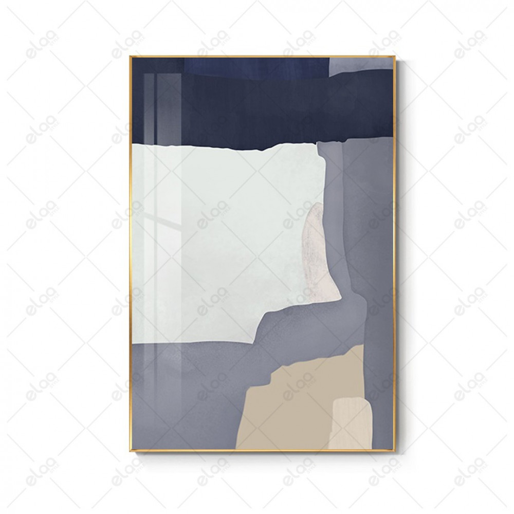 لوحات فن تجريدي لدرجات اللون الرمادي والذهبي والأبيض