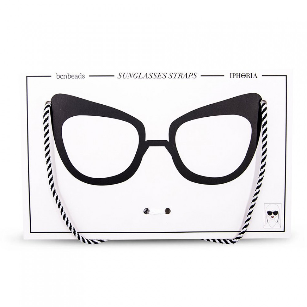 Iphoria Glasses Strap Nylon Black and White