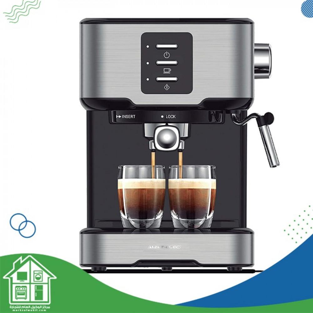 ماكينة صنع قهوة الإسبريسو مزودة بفلتر مزدوج من الإستانلس ستيل لإعداد ك