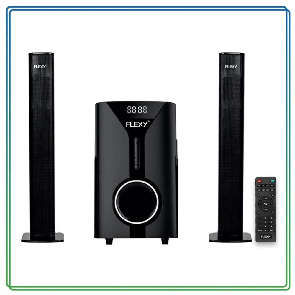 نظام المسرح المنزلي من FLEXY  قناة 5000 واط PMPO مع جهاز تحكم عن بعد و