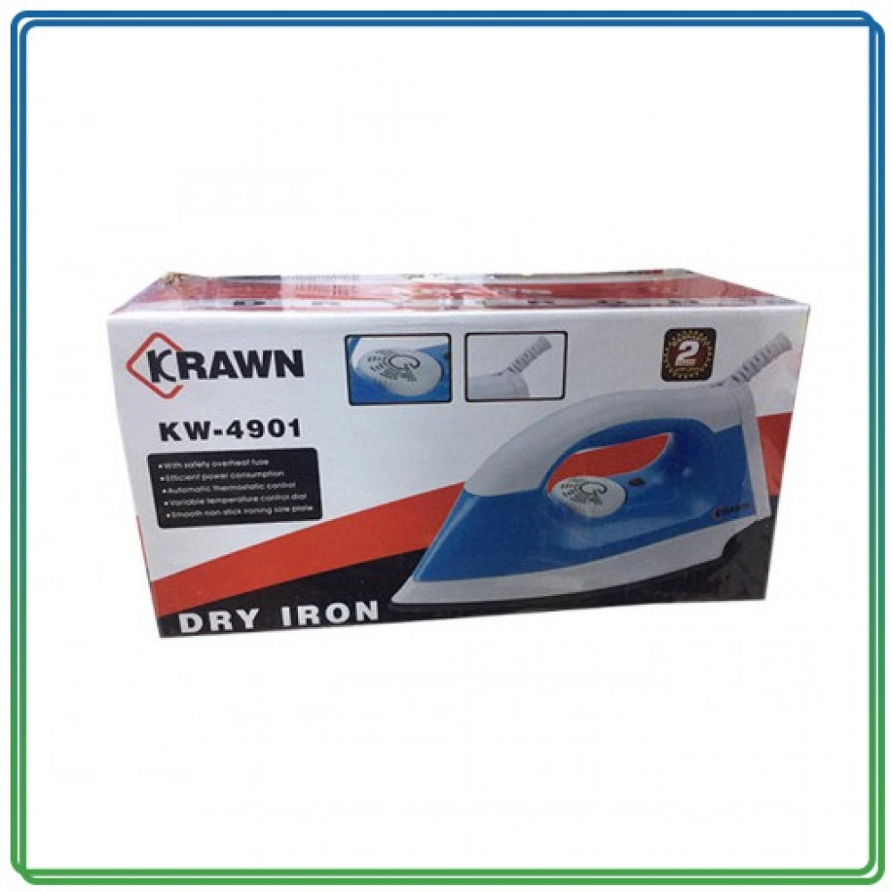 Krawn KW4901 1000W مكواة جافة - ازرق