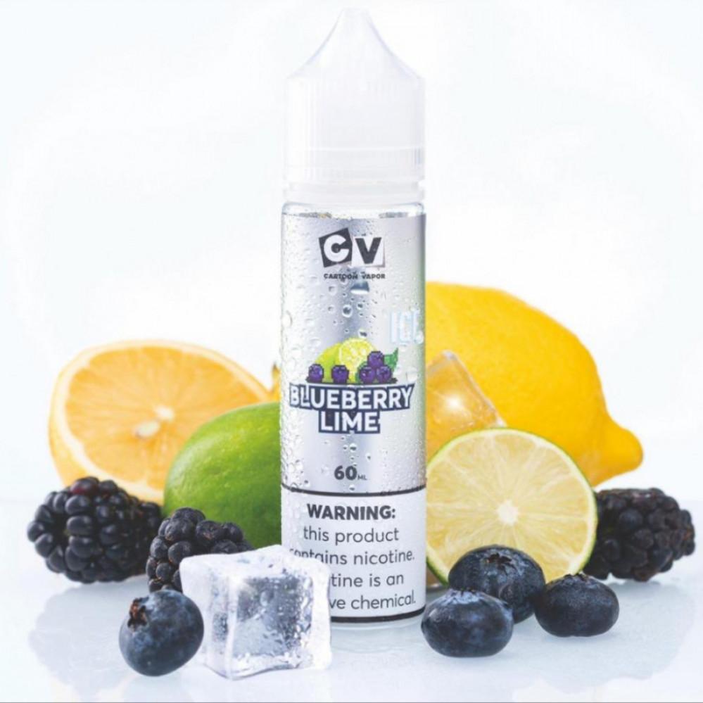نكهة سي في توت ليمون ايس 60 ملي - CV BLUEBERRY LIME ICE - 60ML