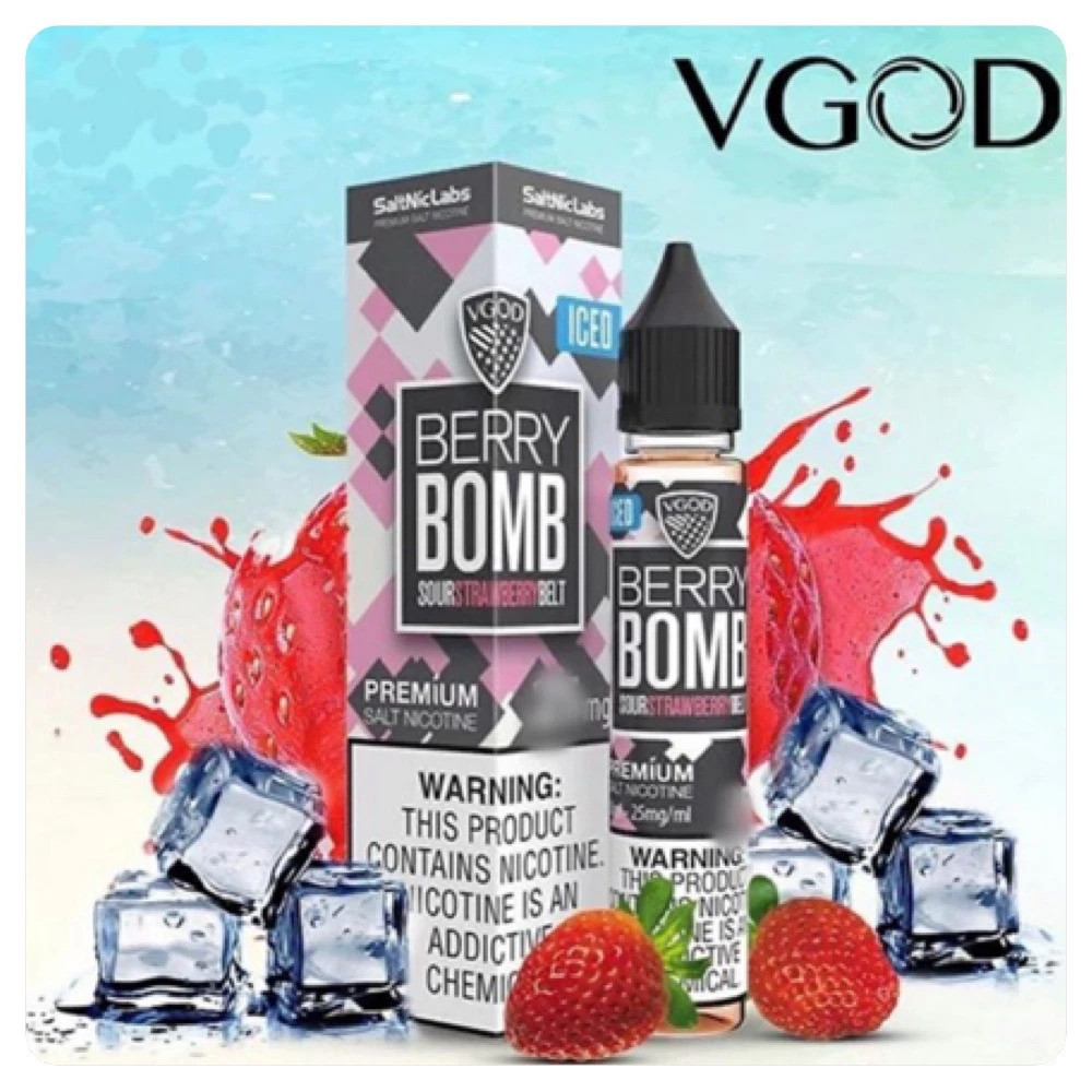 نكهة فيقود فراولة ايس سولت نيكوتين - VGOD Berry Bomb ICED - Salt Nicot