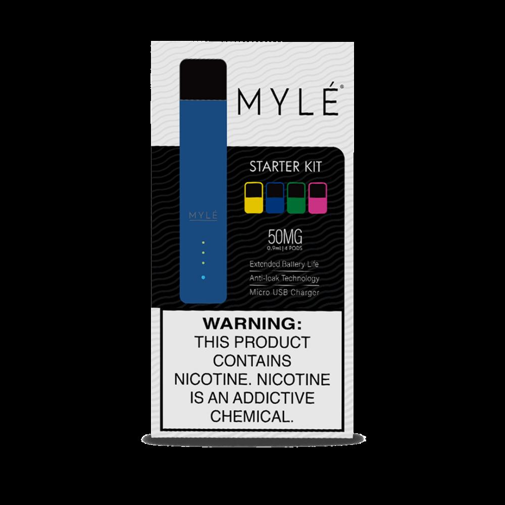 سحبة مايلي الاصدار الرابع مع 4 بودات معباة - Mylé V4 Jet Starter Kit
