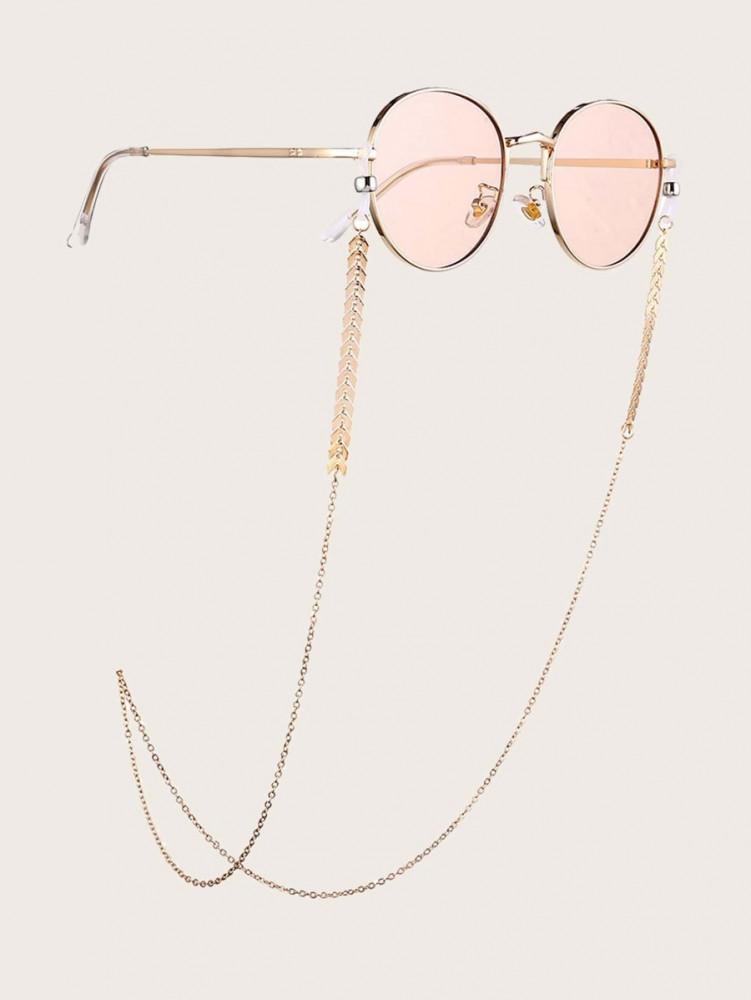 سلسال نظارات شمسية مطلية بلون ذهبي انيقة اكسسوارات نظارات حزام نظارات
