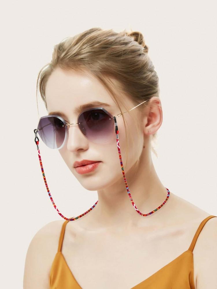 اكسسوارت نظارات تعليقة نظارات احدث التشكيلات لون احمر سللاسل نظارات