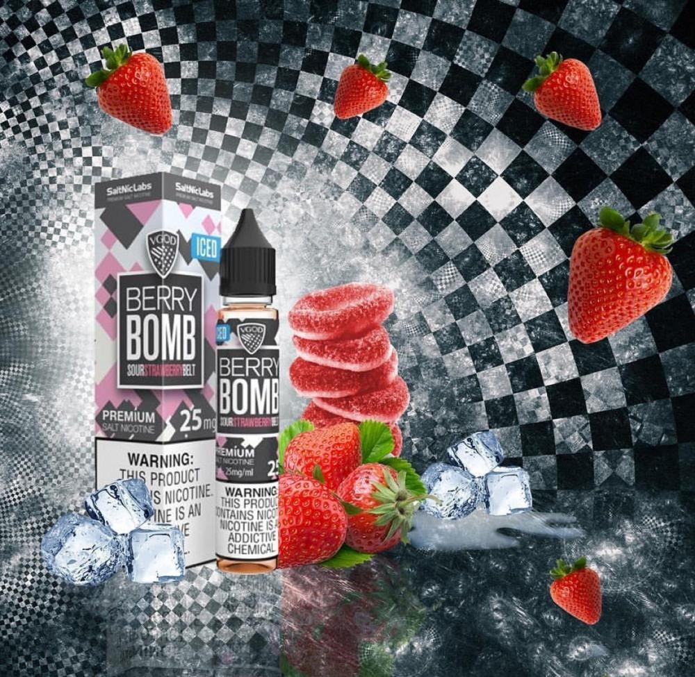 نكهة سولت قنبلة الفراولة ايس من فيقود  Bomb Berry VGOD