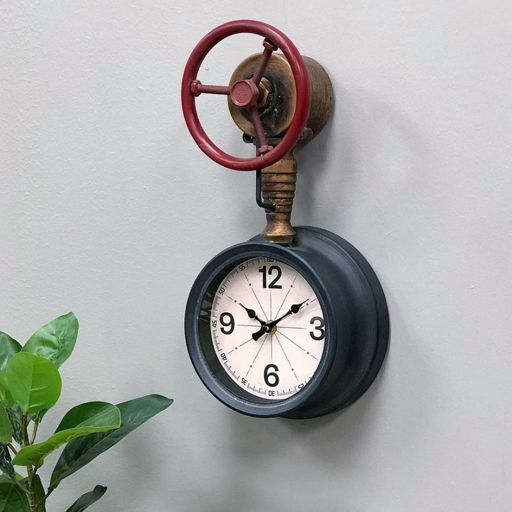 ساعة جدارية حديد شكل عداد مياه ساعات جدار ديكورات المنزل ساعة حائط