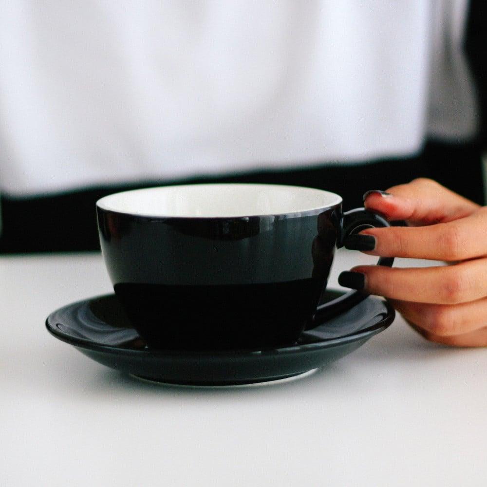 كوب سيراميك لاتيه مع صحن أكواب اكمي خزف قهوة هدية هدايا ركن القهوة