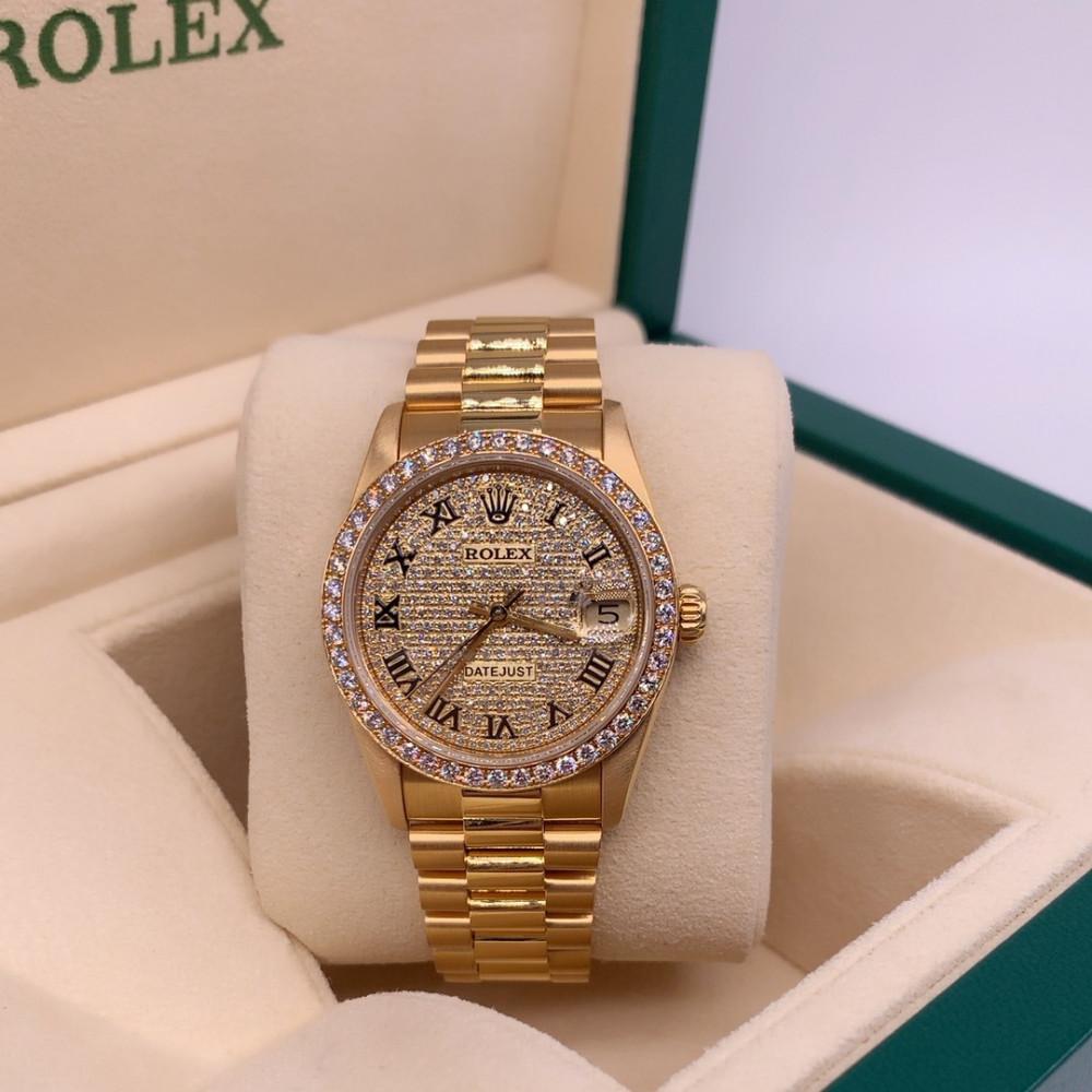ساعة رولكس ديت جست بريزيدنت الأصلية الفاخرة مستعملة