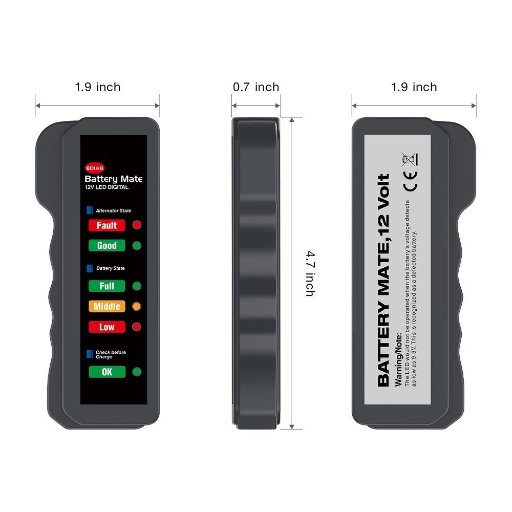 جهاز فحص نظام شحن دينمو السيارة والبطارية 12 فولت ل 6 أوضاع