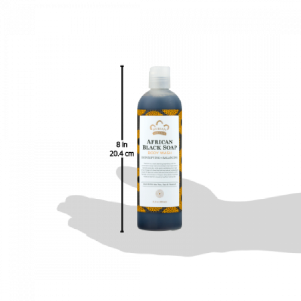 صابون نوبيان هيريتج الاسود الأفريقي السائل للاستحمام حجم 384 ملي