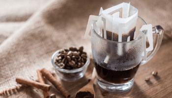 قهوة مطحونة مقطرة