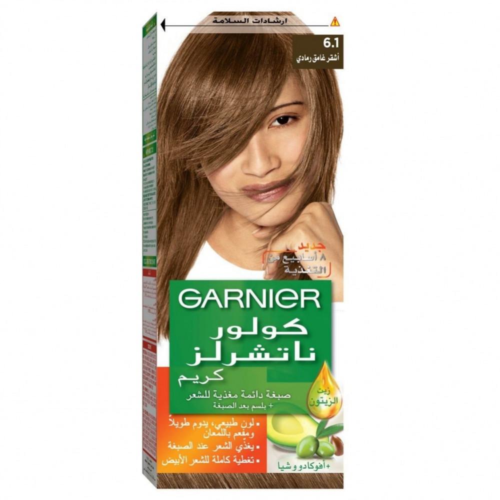 غارنييه صبغة شعر اشقر غامق رمادي 1-6