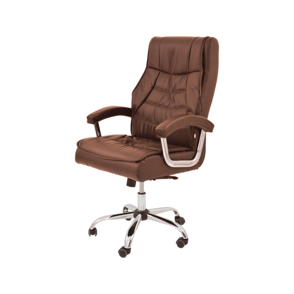 كرسي دوار جلد بني من كاما  DTBXH-9250