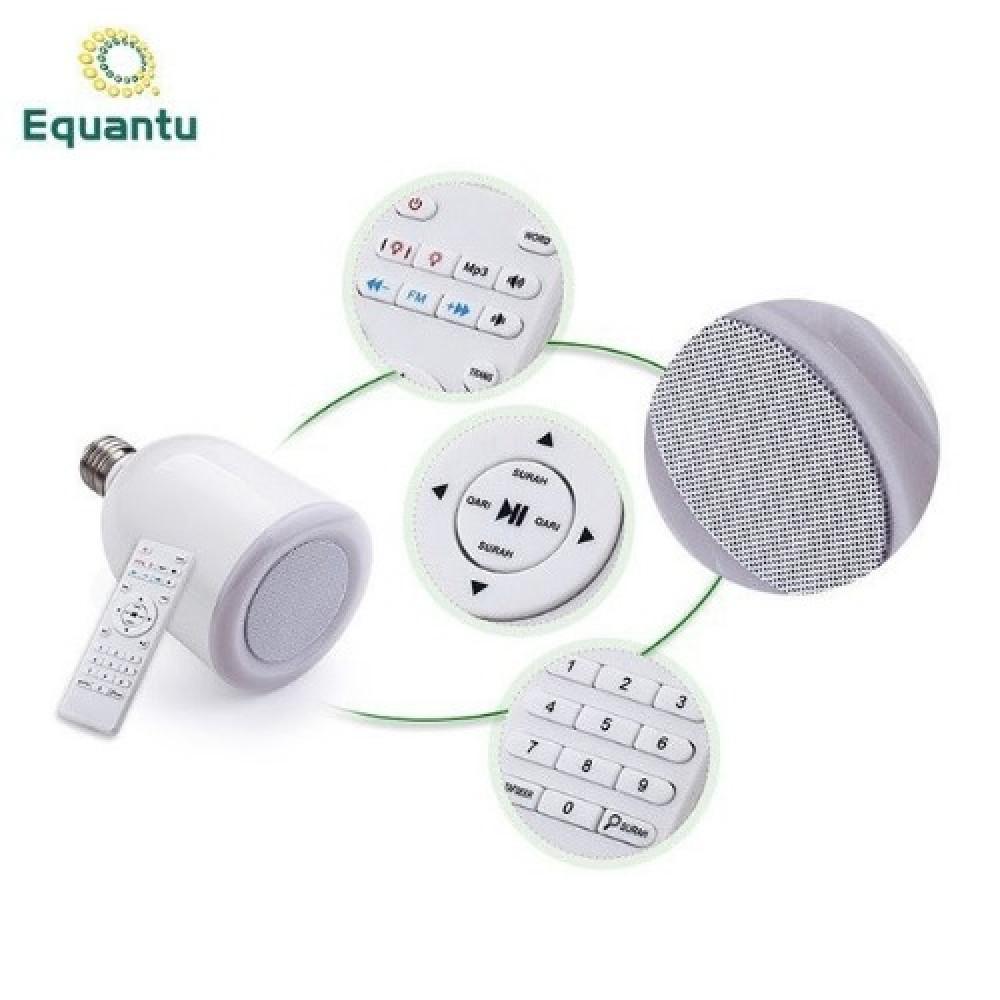 مكبر الصوت للقرآن بمصابيح LED مع جهاز تحكم عن بعد مصباح القران الكريم
