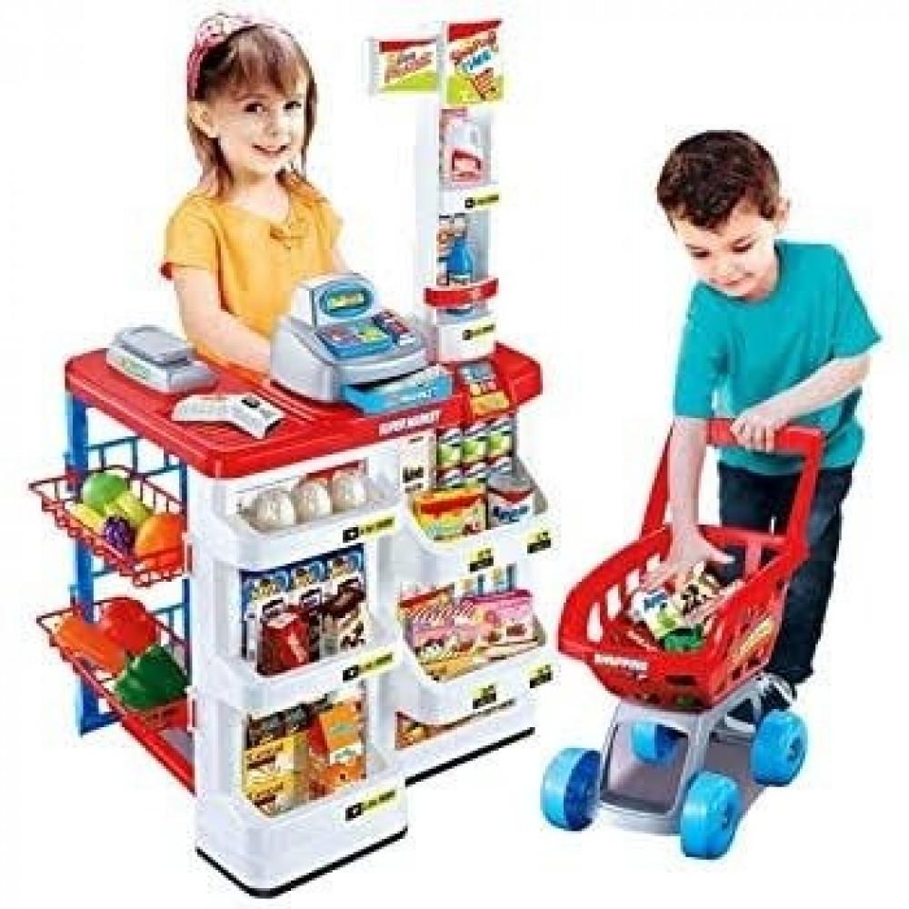 سيارة لعبة سوبر ماركت للتسوق عربة التسوق للاطفال للبيع في سعودية الان