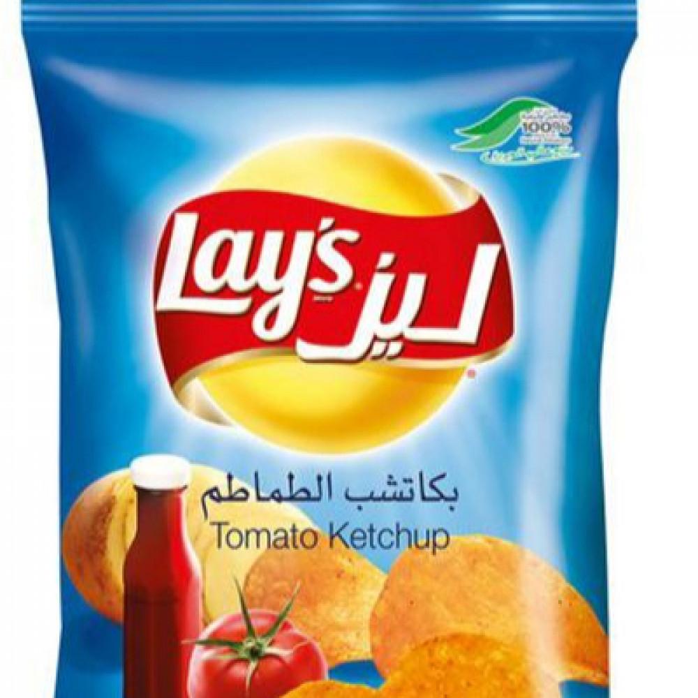 ليز رقائق البطاطس بنكهة الكاتشب ابو 3 متاجر الشرق المواد الغذائية
