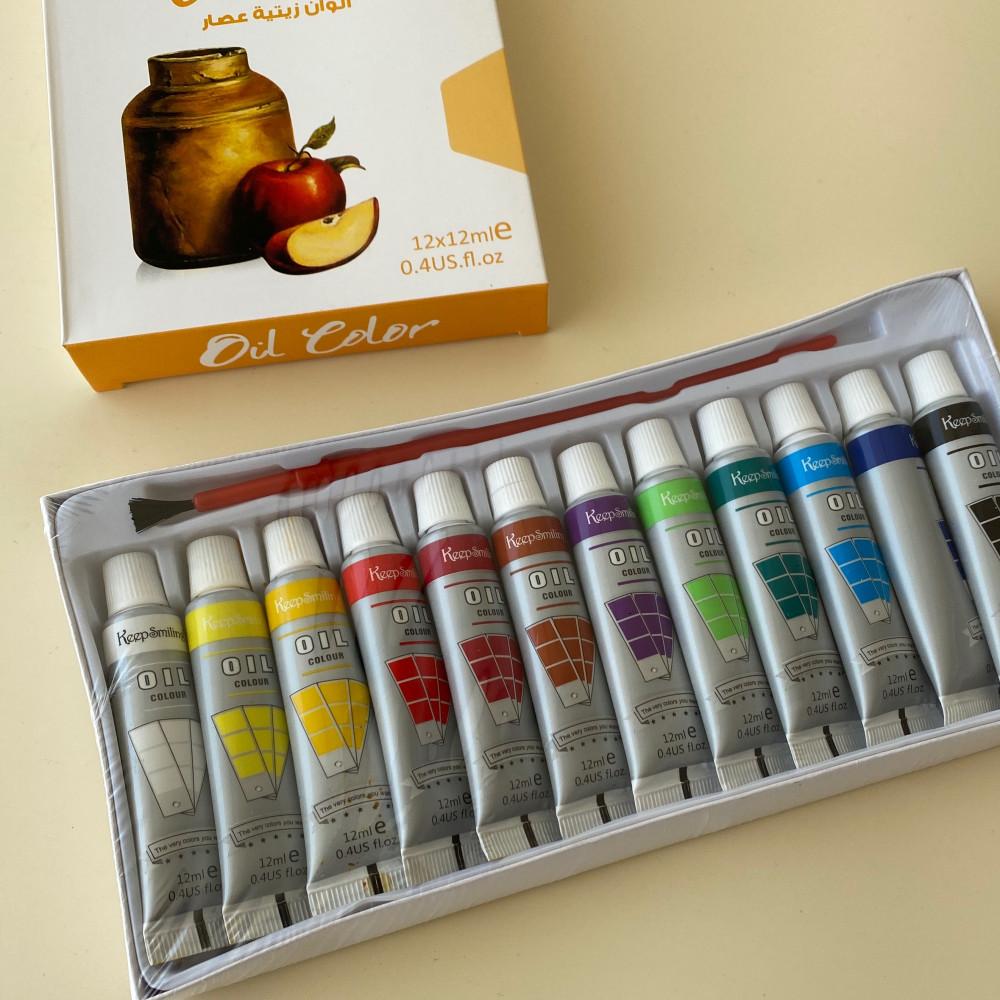 مجموعة الوان زيتية 12 لون